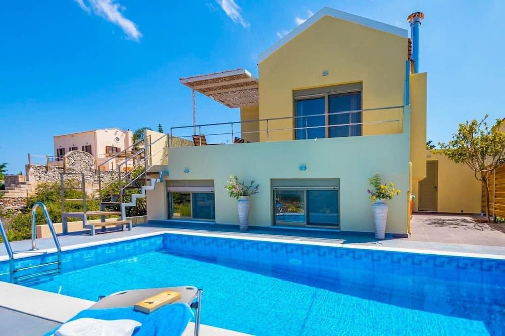 Villa Litsa Large Private Pool Sea Views A C Wifi - 2426