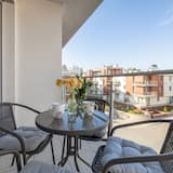 Apartamentai, 1 miegamasis, terasa, vaizdas į jūrą - Balkonas