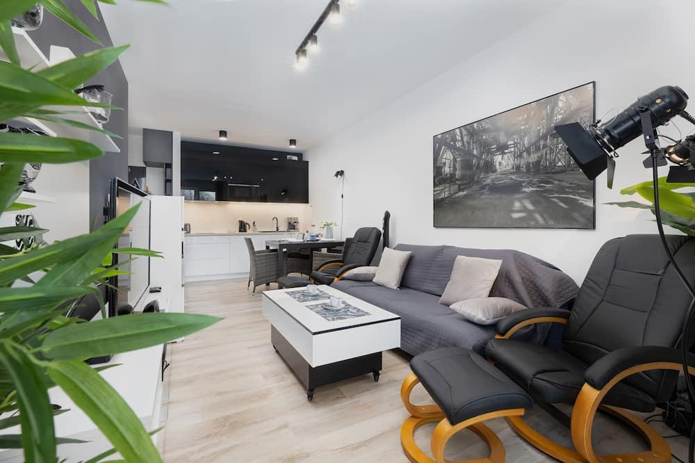 Apartamentai, 1 miegamasis, balkonas, vaizdas į jūrą - Pagrindinė nuotrauka