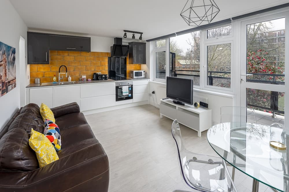 Eenvoudig appartement, Meerdere bedden - Woonkamer