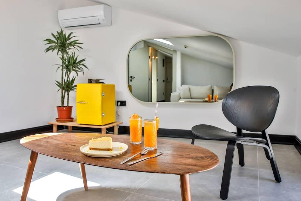 Loftový byt typu Economy - Obývací prostor