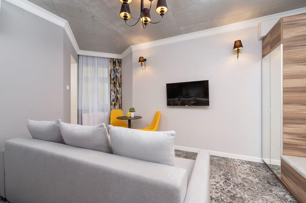 Dzīvokļnumurs, viena guļamistaba, virtuve - Dzīvojamā istaba