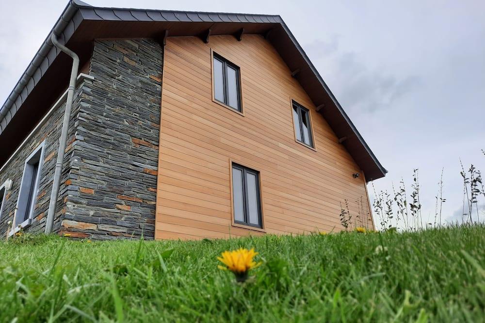 Chalet, en-suite badkamer, uitzicht op tuin - Buitenkant