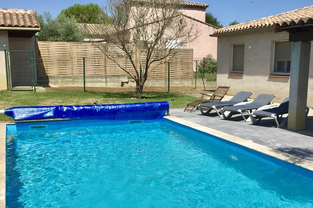 Deluxe villa, en-suite badkamer, uitzicht op tuin (4 chambres) - Zwembad