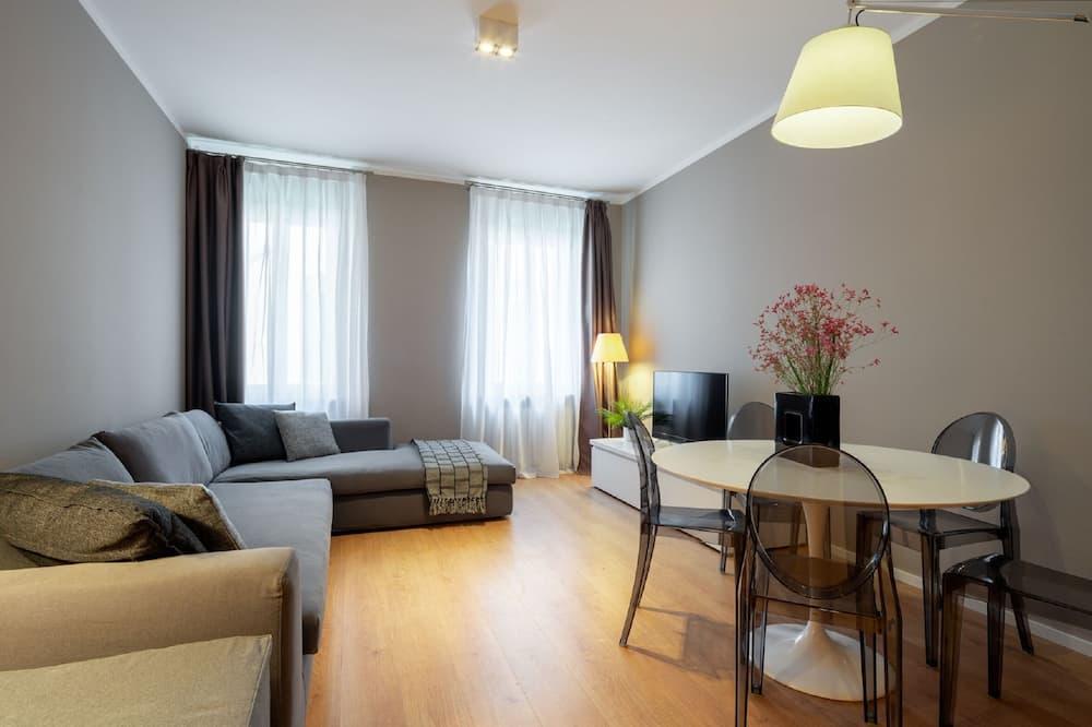 Appartement Supérieur, 2 chambres, vue canal - Coin séjour