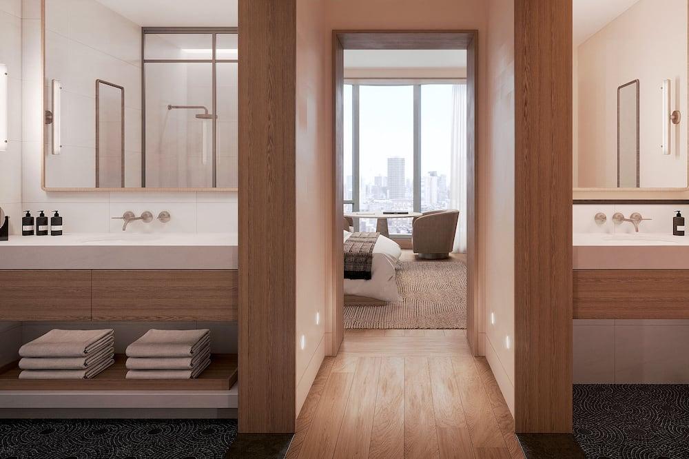 Студия-люкс, 1 двуспальная кровать «Кинг-сайз», угловой (Skyline) - Ванная комната