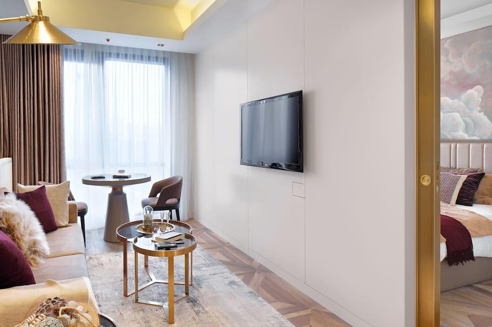 Apartament podstawowy typu Suite, 1 sypialnia, kuchnia, widok na miasto - Łazienka