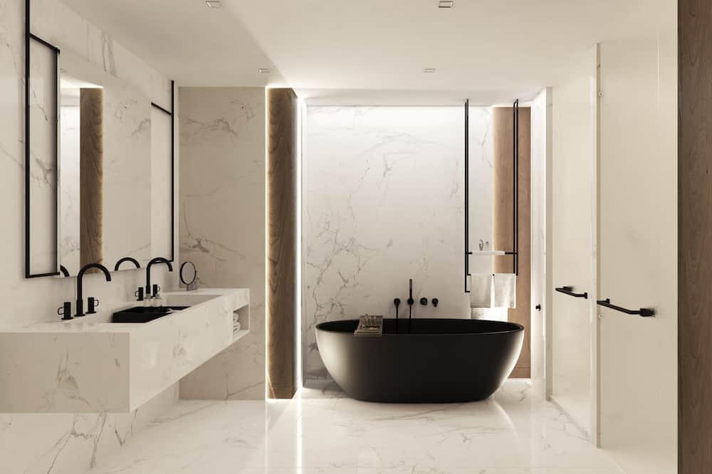 Deluxe-Zimmer, 2Queen-Betten, Nichtraucher, Parkblick - Badezimmer