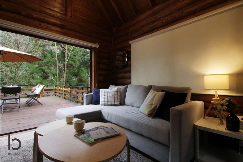 Cabaña, 1 habitación, para no fumadores - Sala de estar
