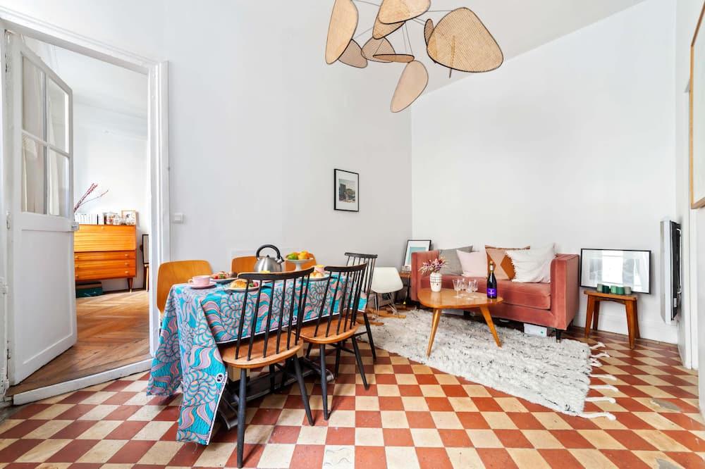 เบสิกอพาร์ทเมนท์, เตียงใหญ่ 1 เตียง - ห้องนั่งเล่น