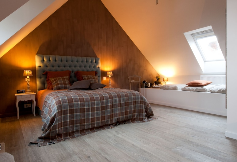 B Guest Bed & Breakfast, Bruges, Deluxe Double Room, Bilik Tamu