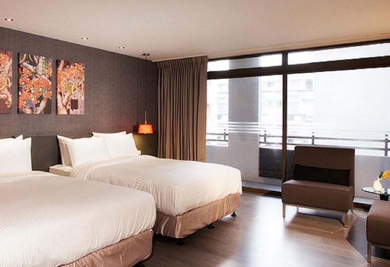 花蓮力麗華美達安可酒店, 花蓮市, 豪華四人房, 客房