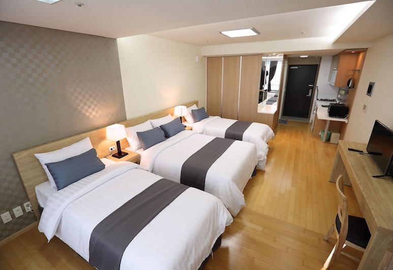 Incheon Airport Welcome Guesthouse, Incheon, Chambre Triple, Chambre
