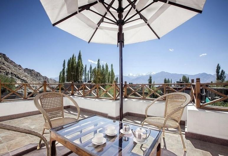 Hotel Dragon, Leh, Terrasse/Patio