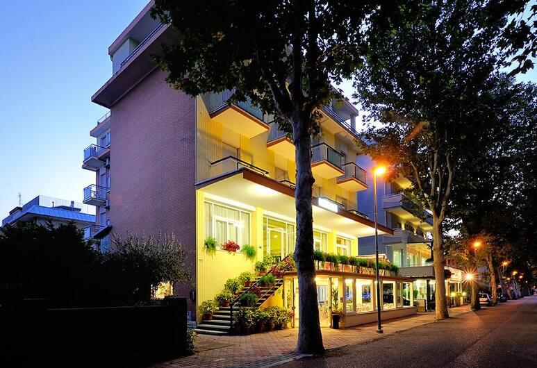 Hotel Samoa, Rimini, Facciata hotel (sera/notte)