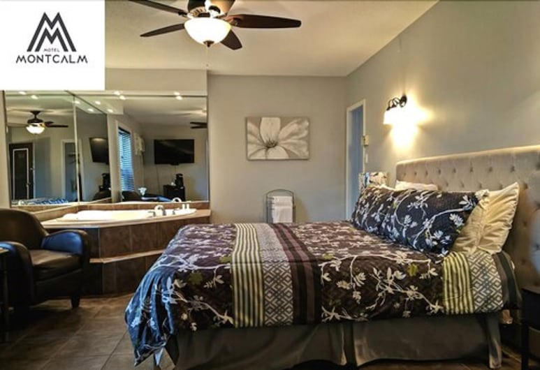 Motel Montcalm, Gatineau, Suite, 1King-Bett, Whirlpool, Zimmer