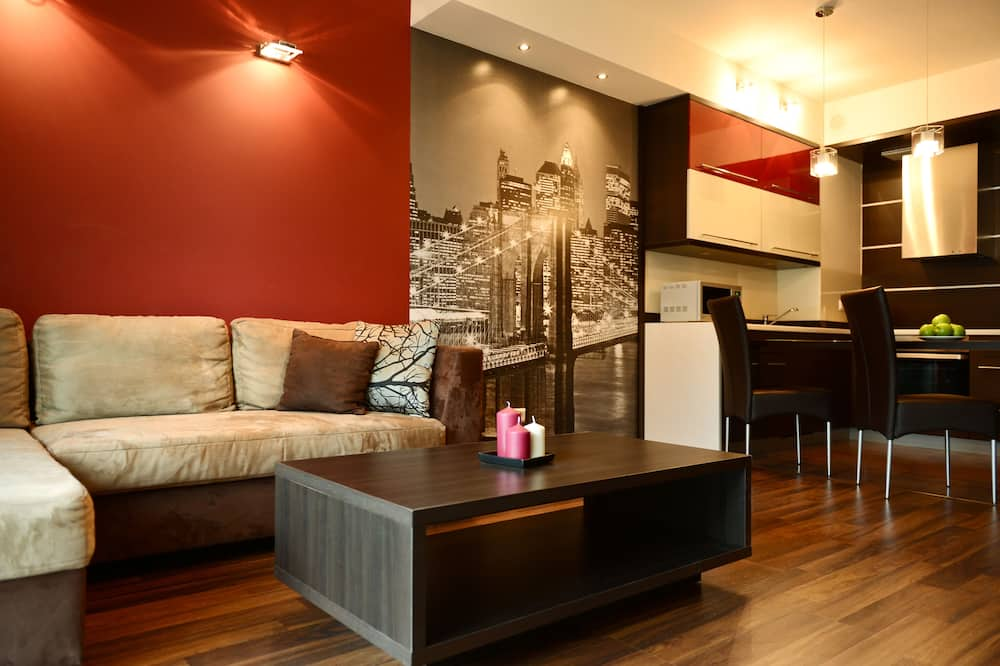 Deluxe Apartment, 1 Double Bed with Sofa bed - Living Area
