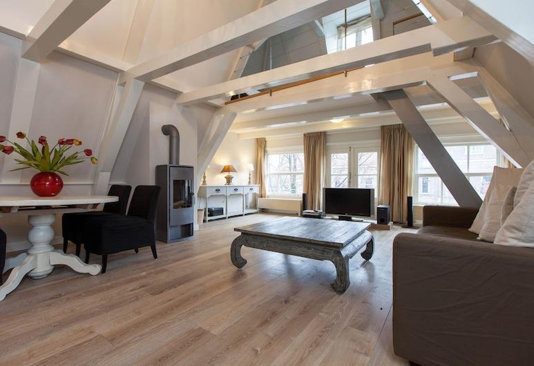 렉스 아파트먼트, 암스테르담, 아파트, 침실 2개, 테라스, 운하 전망, 거실