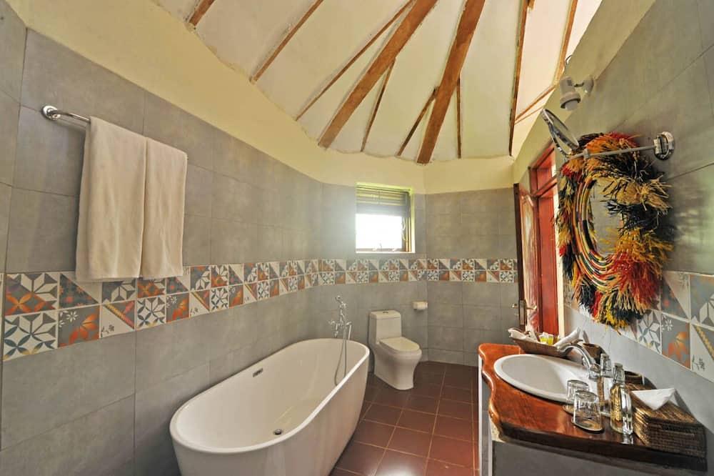 Deluxe cottage, 1 eenpersoonsbed, Uitzicht op gebergte - Badkamer