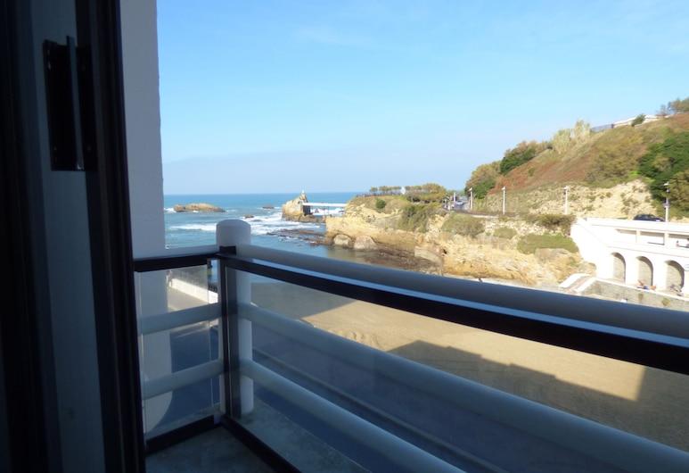 Hotel de la Plage, Biarritz, Divvietīgs numurs, balkons, skats uz jūru, Balkons