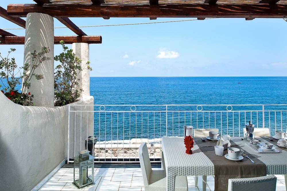 Apartmán typu Deluxe, 2 spálne, výhľad na more (6 people) - Balkón