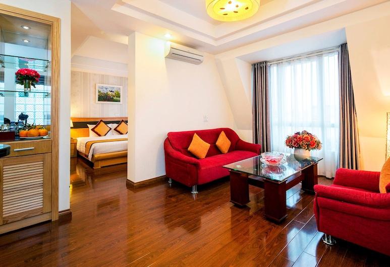 Hanoi Sky Hotel, Hanói, Suite, Vista de la habitación