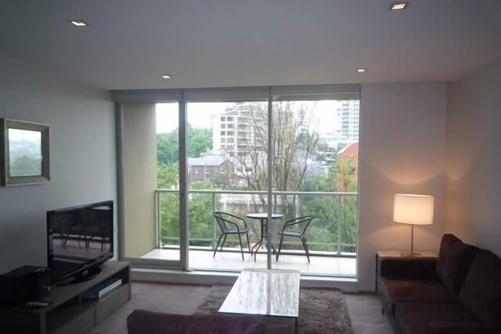 Lägenhet - 1 sovrum - balkong - Vardagsrum
