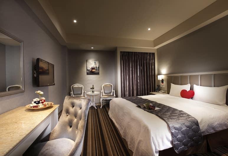 Grace Hotel Banchiao, Naujasis Taipėjus, prabangus dvivietis kambarys, Svečių kambarys