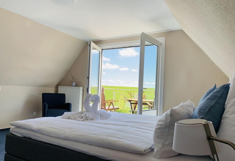 Seehotel Neue Liebe, Куксгафен, Апартаменти, 2 спальні, кухня, з видом на сад, Номер