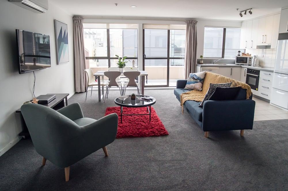 Dzīvokļnumurs, divas guļamistabas, privāta vannasistaba - Dzīvojamā istaba