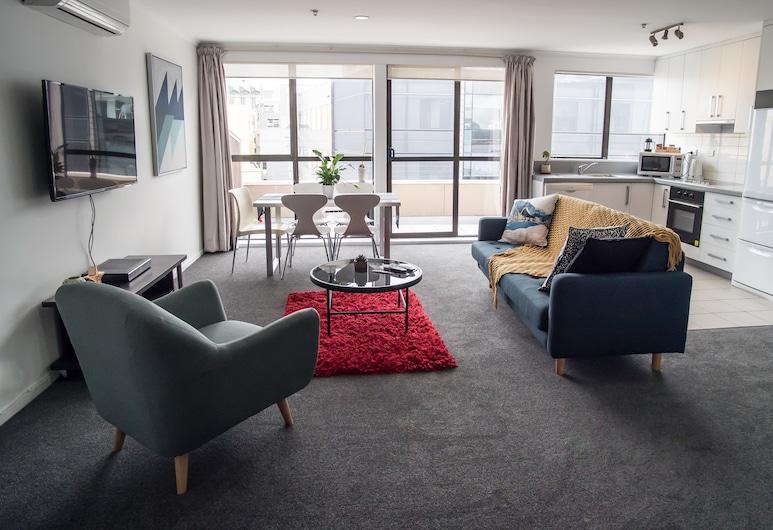 U Residence Hotel, Wellington, Apartment, 2 Bedrooms, Private Bathroom, Living Room