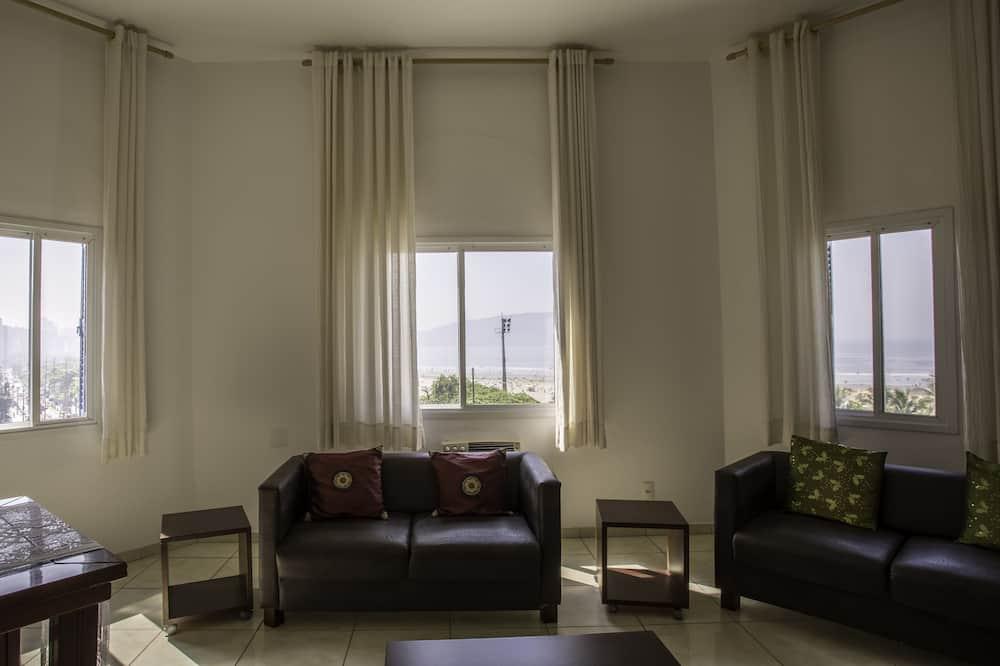 Luxusní apartmá, výhled na pláž - Obývací pokoj