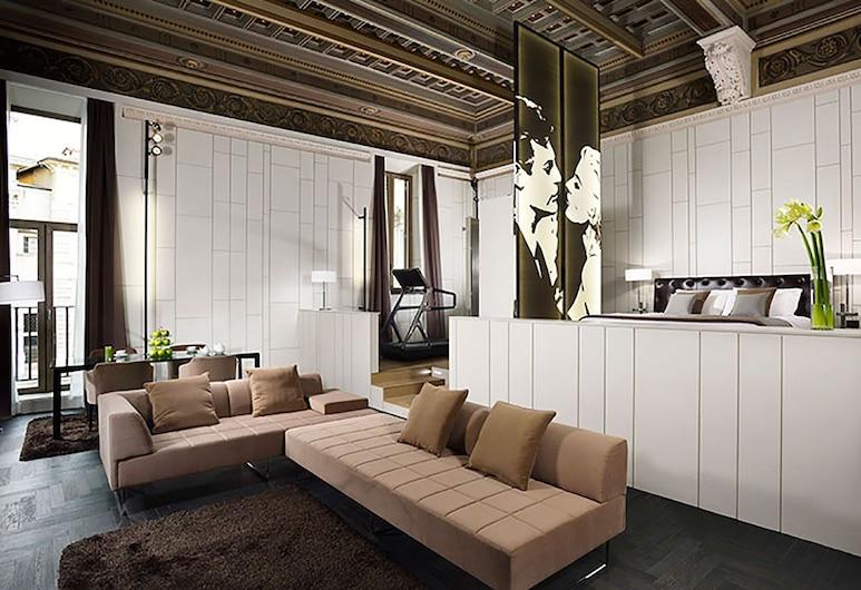 Piazza del Gesù Luxury Suites, Rom, Presidential Suite, Bilik Tamu