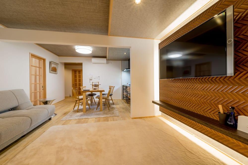 特級套房, 2 間臥室, 私人浴室, 花園景 (90sqm) - 客廳