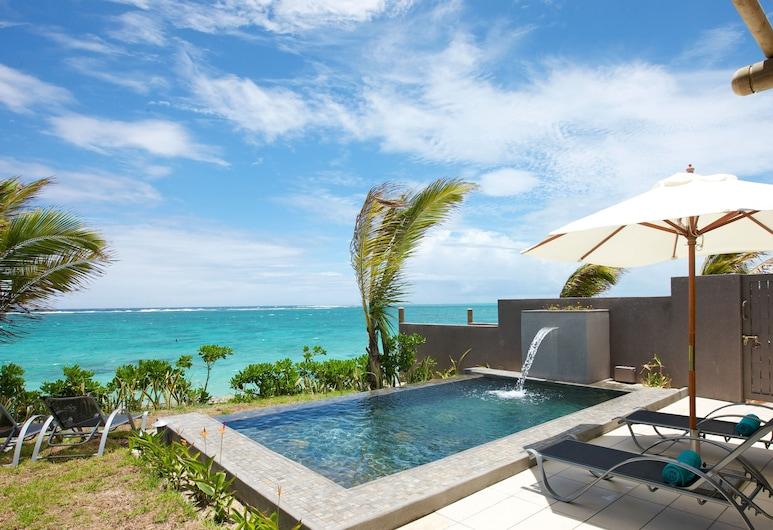 Stylia Villas, Trou d'Eau Douce, Kamar, 2 Tempat Tidur Double, pemandangan kebun, Air Terjun Kolam Renang
