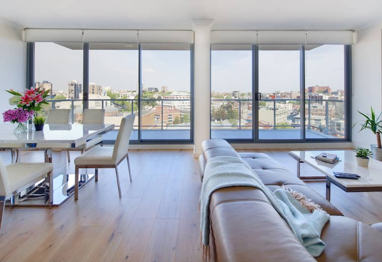 Zara Tower - Luxury Suites and Apartments, Sydney, Penthouse, 3 Schlafzimmer, Wohnbereich