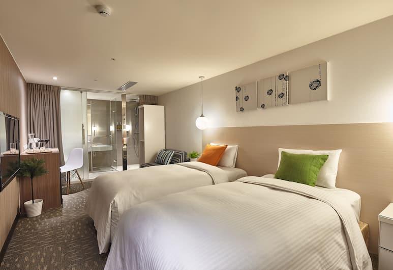 丰居旅店雙連館, 台北市, 標準客房, 2 張單人床, 無窗戶, 客房