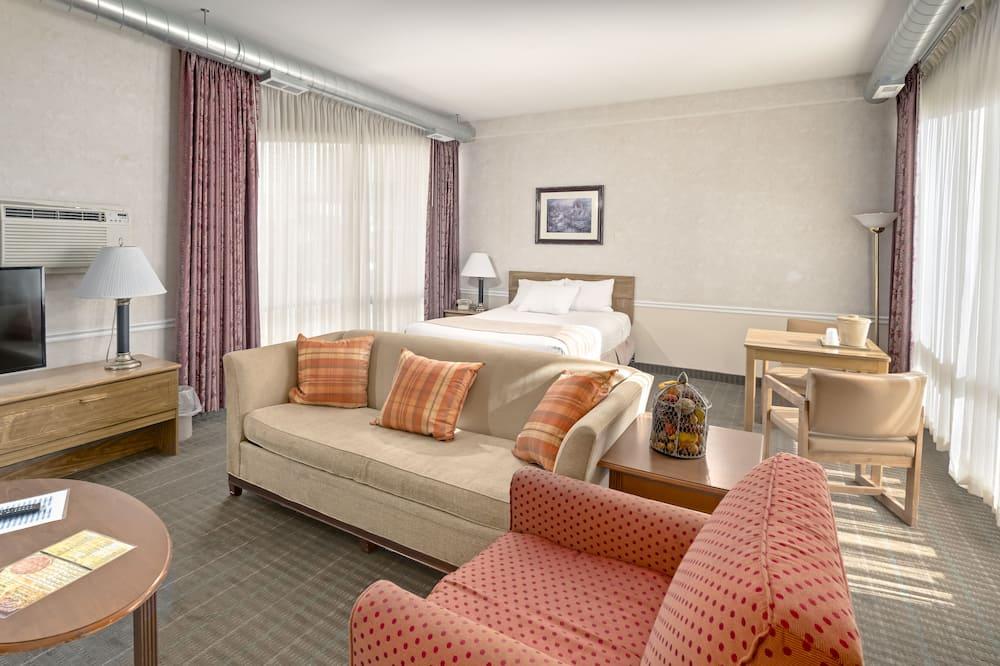 Suite, 1 cama king-size com sofá-cama - Sala de Estar