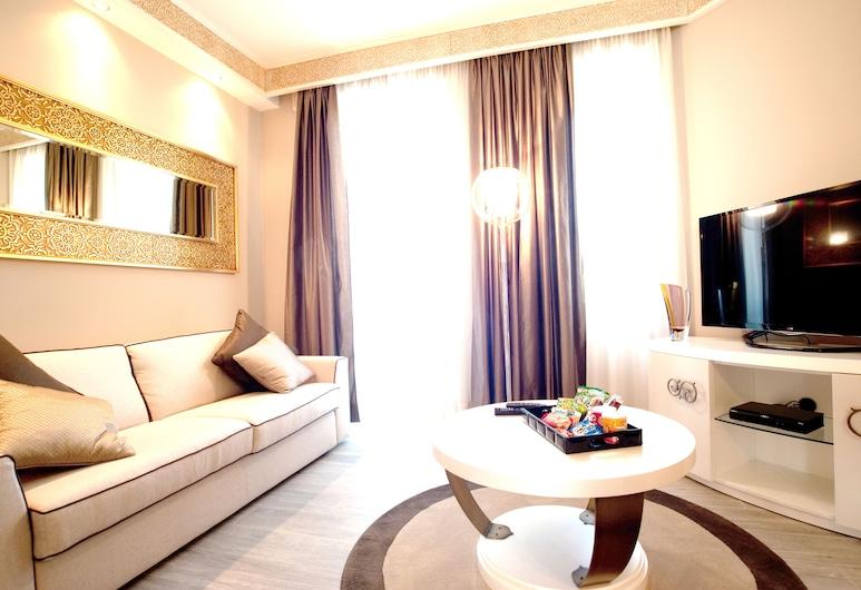 Luxury Suite Milano Duomo, Milan, Suite Junior, coin cuisine, Coin séjour