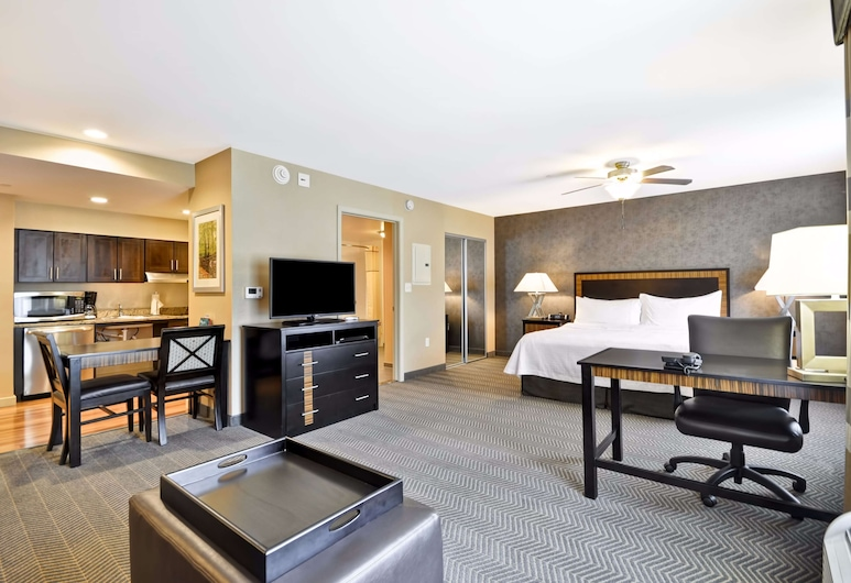 Homewood Suites by Hilton Southington, CT, Southington, Studiolejlighed - 1 kingsize-seng - handicapvenligt - badekar (Mobility & Hearing), Værelse med køkken