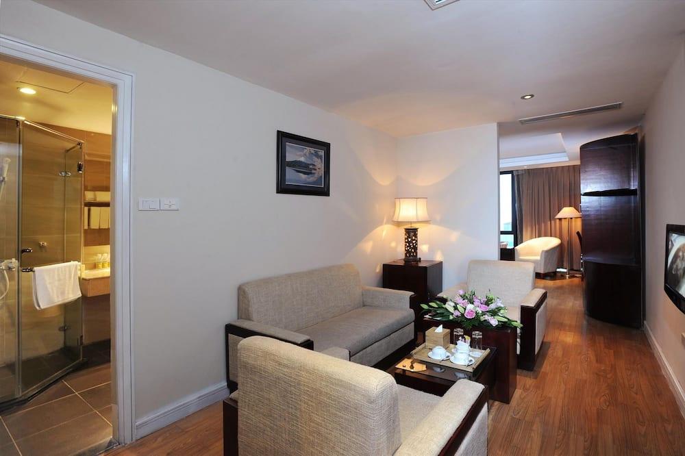 Familien-Suite, 2Schlafzimmer, Stadtblick - Wohnbereich