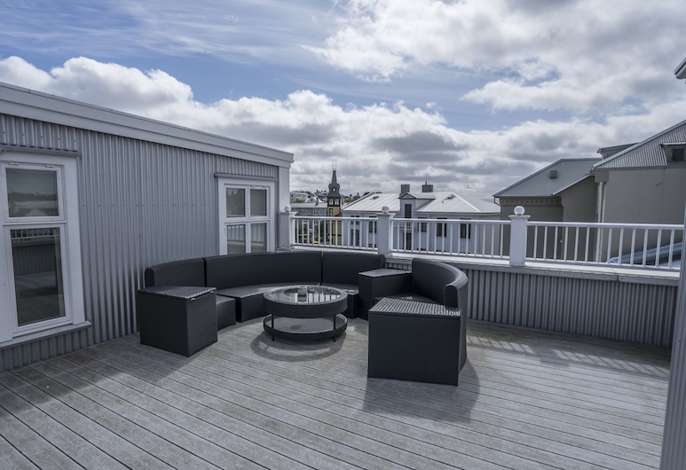Kvosin Downtown Hotel, Reykjavik, Top Floor Apartment with Kitchenette, Terrace/Patio
