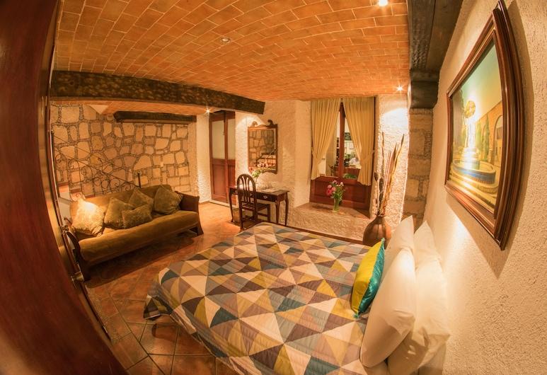 Hotel Mesón de los Remedios, Morelia, Chambre, 1 très grand lit et 1 canapé-lit, Chambre