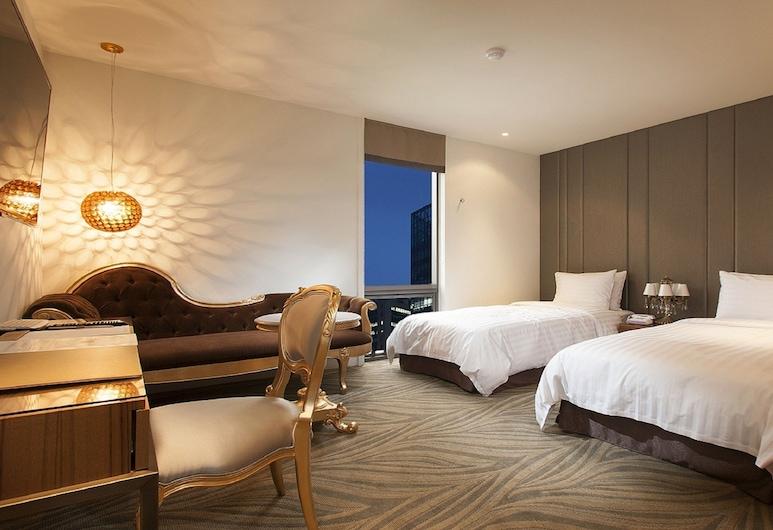 Hotel Grammos, Seoul, Superior Twin Room, Bilik Tamu