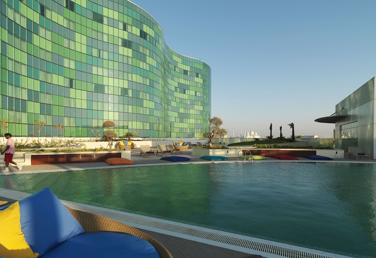 Millennium Capital Gate Abu Dhabi, Abou Dabi, Chambre Deluxe, 1 très grand lit, vue piscine, Vue depuis la chambre