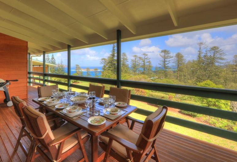 Endeavour Lodge, Norfolkøya, Leilighet, 2 soverom, balkong, utsikt mot hav, Balkongutsikt