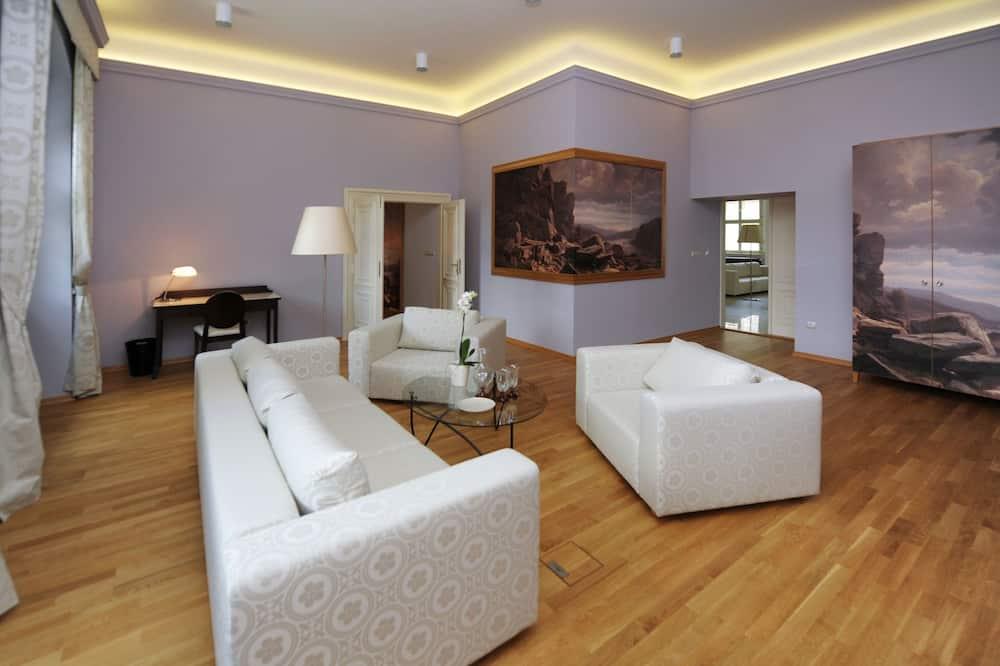 Luxury sviit, 1 magamistoaga, vaade pargile - Elutuba