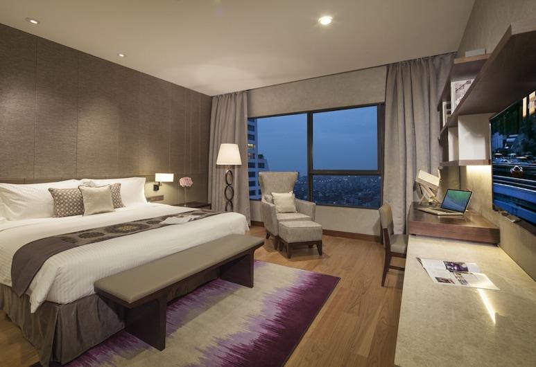 Ascott Raffles City Chengdu, צ'נגדו, סוויטת דה-לוקס, 2 חדרי שינה, מטבחון, נוף לעיר (Including Two Breakfasts), חדר אורחים