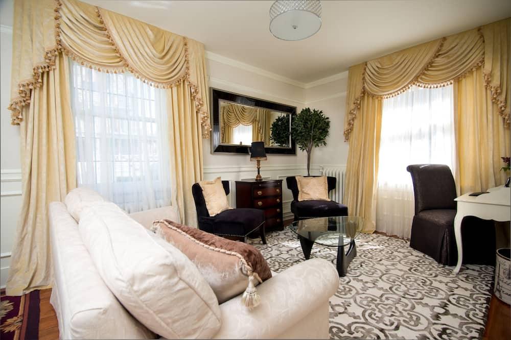 Suite superior, 1 cama King size con sofá cama (Castle) - Sala de estar