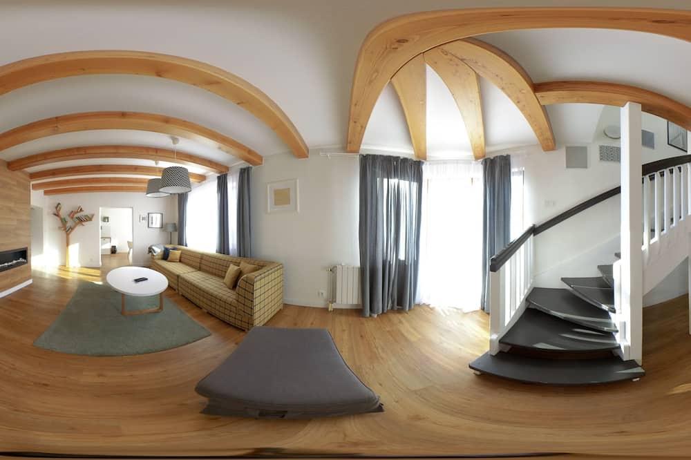 럭셔리 아파트, 침실 4개 (8 Adults) - 거실